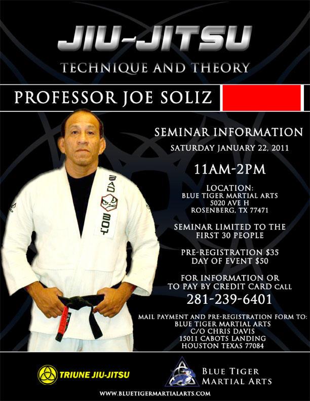 Seminar with Professor Joe Soliz Saturday January 22
